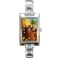 Birds Paradise Cendrawasih Rectangle Italian Charm Watch by Mariart