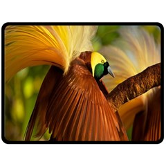 Birds Paradise Cendrawasih Fleece Blanket (large)  by Mariart