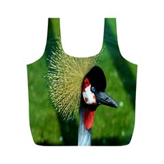 Bird Hairstyle Animals Sexy Beauty Full Print Recycle Bags (m)  by Mariart