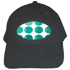 Bubbel Balloon Shades Teal Black Cap by Mariart