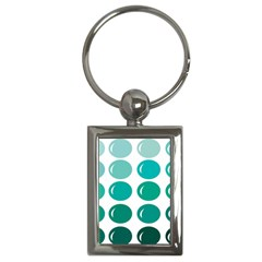 Bubbel Balloon Shades Teal Key Chains (rectangle)  by Mariart
