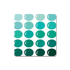 Bubbel Balloon Shades Teal Square Magnet