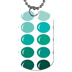 Bubbel Balloon Shades Teal Dog Tag (two Sides) by Mariart