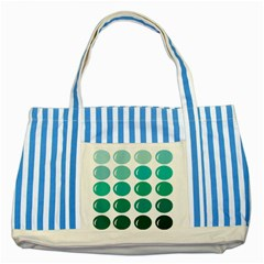 Bubbel Balloon Shades Teal Striped Blue Tote Bag by Mariart