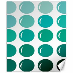 Bubbel Balloon Shades Teal Canvas 20  X 24   by Mariart