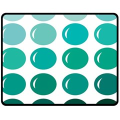 Bubbel Balloon Shades Teal Fleece Blanket (medium)