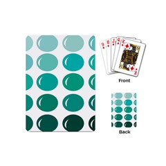 Bubbel Balloon Shades Teal Playing Cards (mini)  by Mariart