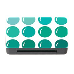Bubbel Balloon Shades Teal Memory Card Reader With Cf by Mariart