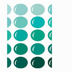 Bubbel Balloon Shades Teal Small Garden Flag (two Sides) by Mariart