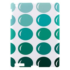 Bubbel Balloon Shades Teal Apple Ipad 3/4 Hardshell Case by Mariart