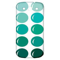Bubbel Balloon Shades Teal Samsung Galaxy S3 S Iii Classic Hardshell Back Case by Mariart
