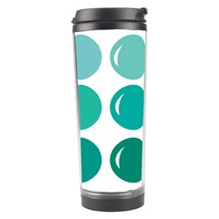 Bubbel Balloon Shades Teal Travel Tumbler by Mariart