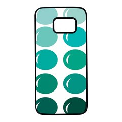 Bubbel Balloon Shades Teal Samsung Galaxy S7 Black Seamless Case by Mariart