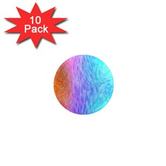 Aurora Rainbow Orange Pink Purple Blue Green Colorfull 1  Mini Magnet (10 Pack)