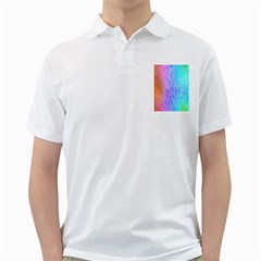 Aurora Rainbow Orange Pink Purple Blue Green Colorfull Golf Shirts