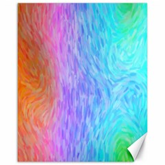 Aurora Rainbow Orange Pink Purple Blue Green Colorfull Canvas 16  X 20   by Mariart