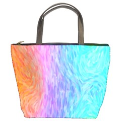 Aurora Rainbow Orange Pink Purple Blue Green Colorfull Bucket Bags by Mariart