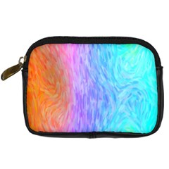 Aurora Rainbow Orange Pink Purple Blue Green Colorfull Digital Camera Cases by Mariart