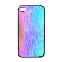 Aurora Rainbow Orange Pink Purple Blue Green Colorfull Apple Iphone 4 Case (black) by Mariart