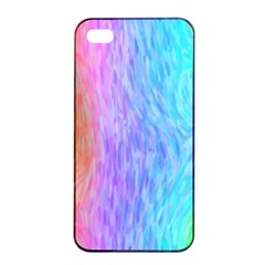 Aurora Rainbow Orange Pink Purple Blue Green Colorfull Apple Iphone 4/4s Seamless Case (black) by Mariart