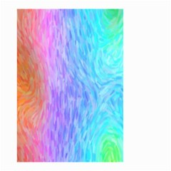 Aurora Rainbow Orange Pink Purple Blue Green Colorfull Small Garden Flag (two Sides) by Mariart