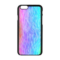 Aurora Rainbow Orange Pink Purple Blue Green Colorfull Apple Iphone 6/6s Black Enamel Case by Mariart