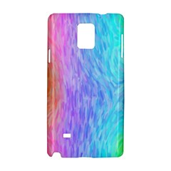 Aurora Rainbow Orange Pink Purple Blue Green Colorfull Samsung Galaxy Note 4 Hardshell Case by Mariart