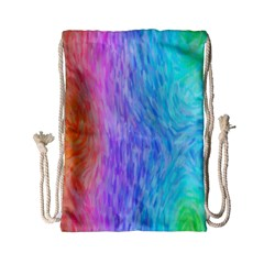 Aurora Rainbow Orange Pink Purple Blue Green Colorfull Drawstring Bag (small) by Mariart
