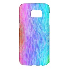 Aurora Rainbow Orange Pink Purple Blue Green Colorfull Samsung Galaxy S7 Edge Hardshell Case by Mariart