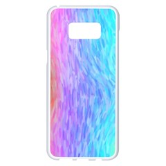 Aurora Rainbow Orange Pink Purple Blue Green Colorfull Samsung Galaxy S8 Plus White Seamless Case by Mariart