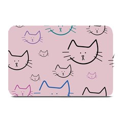 Cat Pattern Face Smile Cute Animals Beauty Plate Mats by Mariart