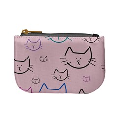 Cat Pattern Face Smile Cute Animals Beauty Mini Coin Purses