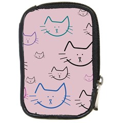 Cat Pattern Face Smile Cute Animals Beauty Compact Camera Cases by Mariart