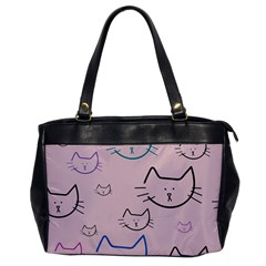 Cat Pattern Face Smile Cute Animals Beauty Office Handbags by Mariart