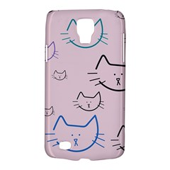 Cat Pattern Face Smile Cute Animals Beauty Galaxy S4 Active by Mariart