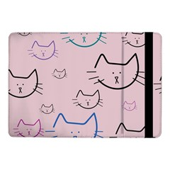 Cat Pattern Face Smile Cute Animals Beauty Samsung Galaxy Tab Pro 10 1  Flip Case by Mariart
