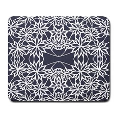 Blue White Lace Flower Floral Star Large Mousepads by Mariart