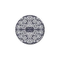 Blue White Lace Flower Floral Star Golf Ball Marker (4 Pack) by Mariart