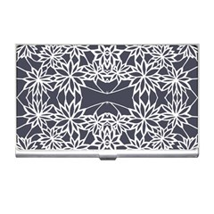 Blue White Lace Flower Floral Star Business Card Holders by Mariart