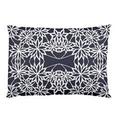 Blue White Lace Flower Floral Star Pillow Case by Mariart