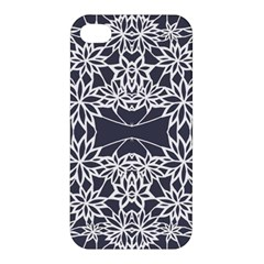 Blue White Lace Flower Floral Star Apple Iphone 4/4s Hardshell Case