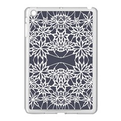 Blue White Lace Flower Floral Star Apple Ipad Mini Case (white) by Mariart
