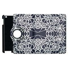 Blue White Lace Flower Floral Star Apple Ipad 2 Flip 360 Case by Mariart