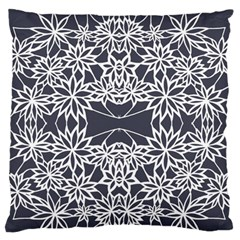 Blue White Lace Flower Floral Star Large Flano Cushion Case (one Side) by Mariart