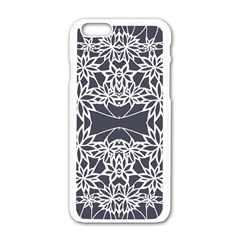 Blue White Lace Flower Floral Star Apple Iphone 6/6s White Enamel Case