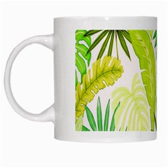 Amazon Forest Natural Green Yellow Leaf White Mugs