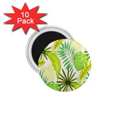 Amazon Forest Natural Green Yellow Leaf 1 75  Magnets (10 Pack)