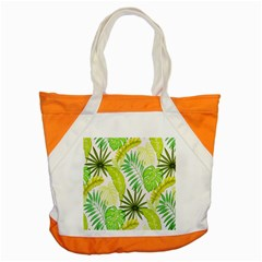 Amazon Forest Natural Green Yellow Leaf Accent Tote Bag