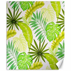 Amazon Forest Natural Green Yellow Leaf Canvas 8  X 10