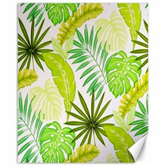 Amazon Forest Natural Green Yellow Leaf Canvas 16  X 20